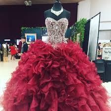 crystal beaded sweetheart bodice corset organza ruffles ball gowns