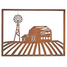 foreside home u0026 garden barn scene wall art