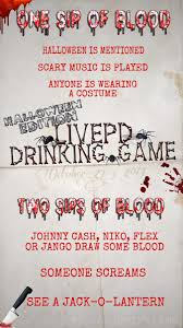 halloween drinking games livepd drinkinggame livepddrinkgame twitter