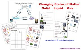 states of matter u2013 changing states of matter packet 50 pages
