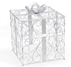 wedding money box silver wedding card holder wedding card holder