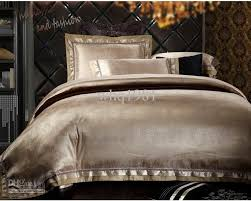 White Cotton Duvet Cover King Luxury Jacquard Silk Cotton Bedding Set Queen King Size 4 6pcs