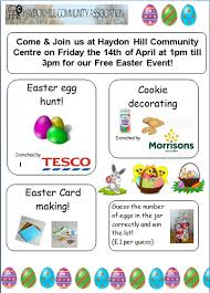 Easter Decorations In Tesco by Easter Event Haydon Hill Community Association