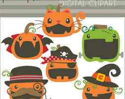 halloween clipart creation kit pumpkin halloween clipart cats in costume personal and limited commercial