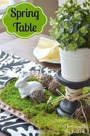 spring table decorating by at home with the barkers