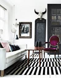Black And White Modern Rug 26 Ways To Use Ikea Stockholm Rug For Home Decor Digsdigs