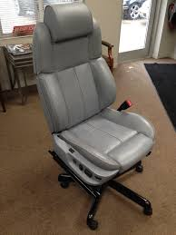 Leather Office Chair Front Office Chair Made From Bmw 740i Front Seat My Projects Pinterest