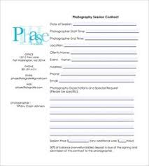 photography contract 7 free pdf download sample templates