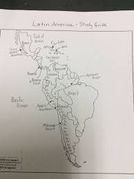 Latin America Map Countries by Polk District