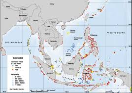 regional map of asia east asia reefs at risk regional map world resources institute