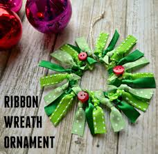 handmade ornament hop ribbon wreath one artsy