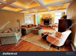 view upscale living room interior box stock photo 46580350
