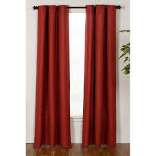 bedroom faux linen blackout grommet extra wide curtain panels red