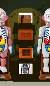 halloween toy scary human body model toy funny 4d sound light