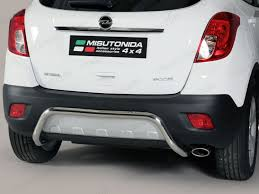 opel mokka trunk misutonida stainless steel rear bumper protection bar for 2012 on