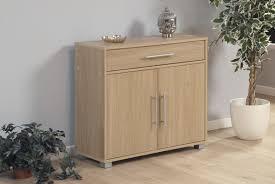 Beech Effect Sideboard Home Source Oak Cupboard 2 Door 1 Draw Sideboard Storage Unit