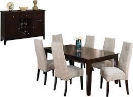 dakota 8 piece dining package w linen chairs the brick