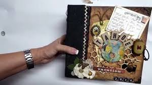 travel photo album scrapbooking mini travel album tim holtz style