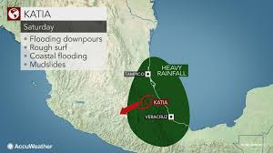 Mexico On A Map by Flooding Rain Damaging Winds To Batter Eastern Mexico As Katia