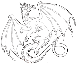 flying dragon lineart free to use by lucieniibi on deviantart