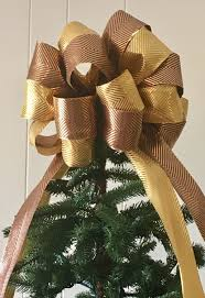 luxury tree topper metallic luxe tree topper bow tree bow the
