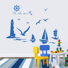 aliexpress com buy wallpaper sea lighthouse wall stickers
