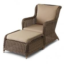 alcee resin wicker outdoor chair and ottoman set ottomans wicker