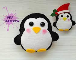 felt penguin etsy
