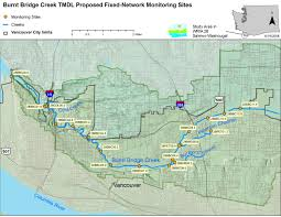 Portland Bridges Map by Burnt Bridge Creek Tmdl Information Wa State Department Of Ecology
