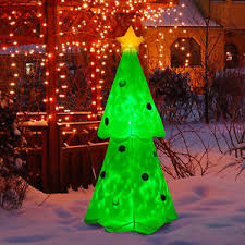 Outdoor Christmas Decorations On Ebay by 6ft Inflatable Christmas Tree Lighted Airblown Holiday Outdoor