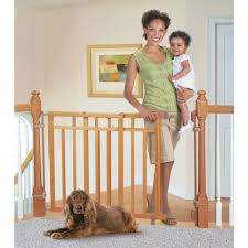 Banister Kit Babies R Us Deluxe Top Of Stair Gate With Dual Banister Kit