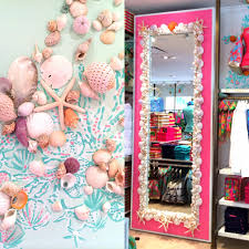 shell decor in lilly pulitzer waterside in naples lilly retail