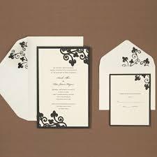 laser cut filigree print at home invitation kit