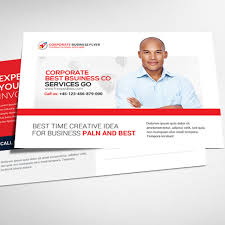 business postcard psd template template free download on pngtree