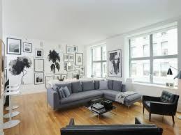 black and white home interior spacious black white and grey apartment