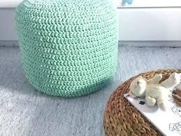 Crochet Ottoman Knit Pouf Ottoman Dynamicpeople Club