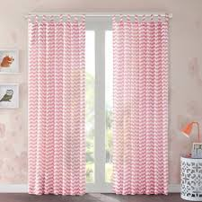 Pink Chevron Curtains Buy Coral Curtains And Window Treatments From Bed Bath Beyond