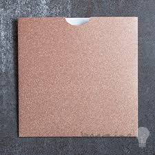 Pocket Invites Square Glitter Wallet Rose Gold Square Wallet For Diy Wedding