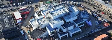 big designed lego house takes shape in denmark