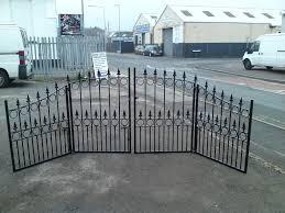 david dangerous wrought iron driveway gates bi folding