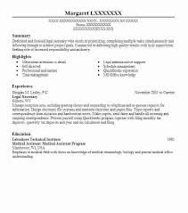 Resume For Legal Assistant Professional Sample Legal Secretary Resume Nonsensical Resume For