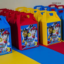 30 cajas dulces fiestas infantiles personalizas paw patrol