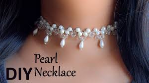 choker necklace with pearls images Beautiful pearl choker necklace diy jewelry making beads art jpg