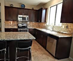 kitchen backsplash height copperntertops white cabinets two tone