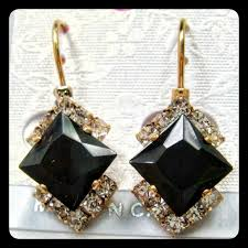 earrings brand 47 jewelry brand new gold black earrings from