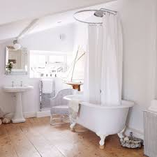 Country Bathroom Shower Curtains Roll Top Baths With Shower My Home Pinterest Freestanding
