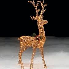 lighted reindeer trim a home reg 491 121160250 1 60in lighted gold standing
