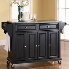 Kitchen Cabinet On Wheels Crosley Solid Granite Top Kitchen Cart Island Hayneedle