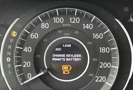 honda hrv warning lights low fob battery