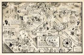 Harlem Map New York by E Simms Campbell U0027s 1932 Illustrated Map Of Harlem Nightlife